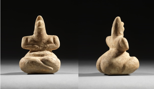 Aegean Neolithic marble idol from the 5th millennium BC